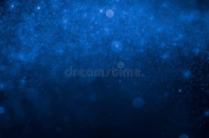 Fond bleu d'abrégé sur bokeh Bokeh bleu illustration stock