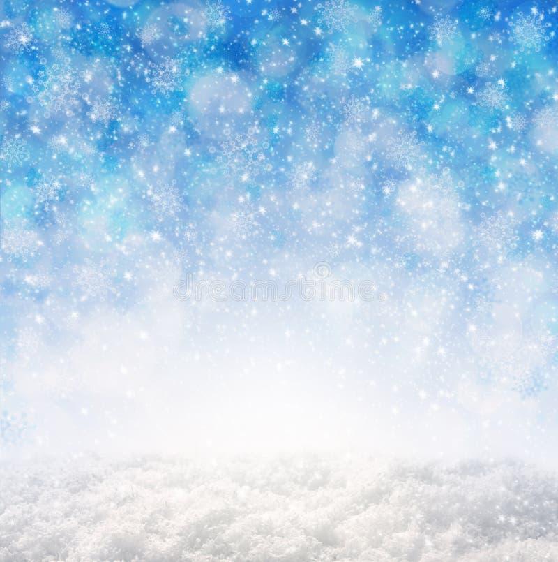 Fond bleu d'abrégé sur Noël photo libre de droits