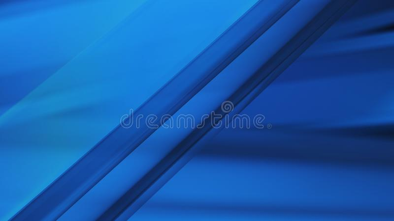 Fond bleu 3d d'abrégé sur onde lumineuse illustration stock