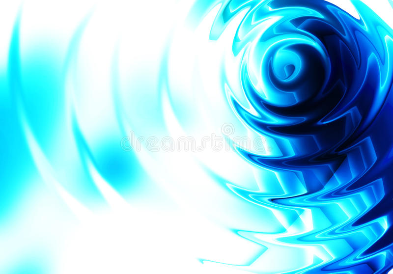 Fond bleu d'abrégé sur ondulation illustration stock