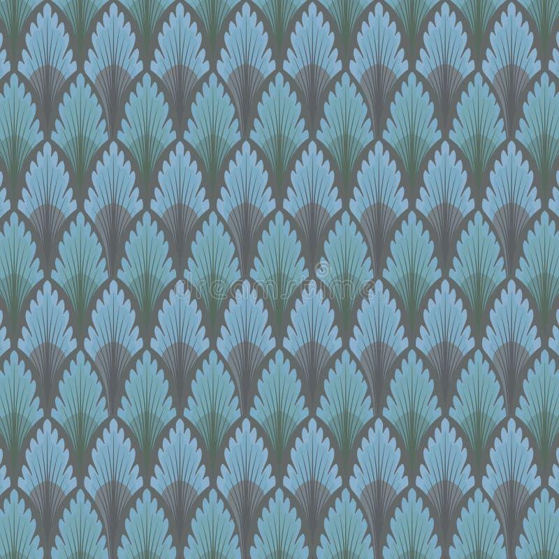 Fond bleu d'abrégé sur papier peint illustration libre de droits