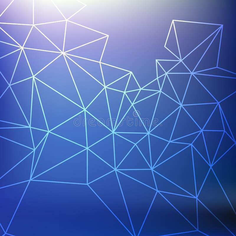 Fond bleu d'abstarct avec la grille illustration de vecteur