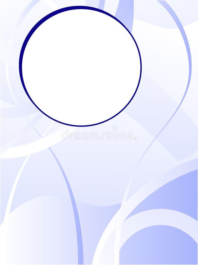 Fond bleu d'affaires illustration de vecteur