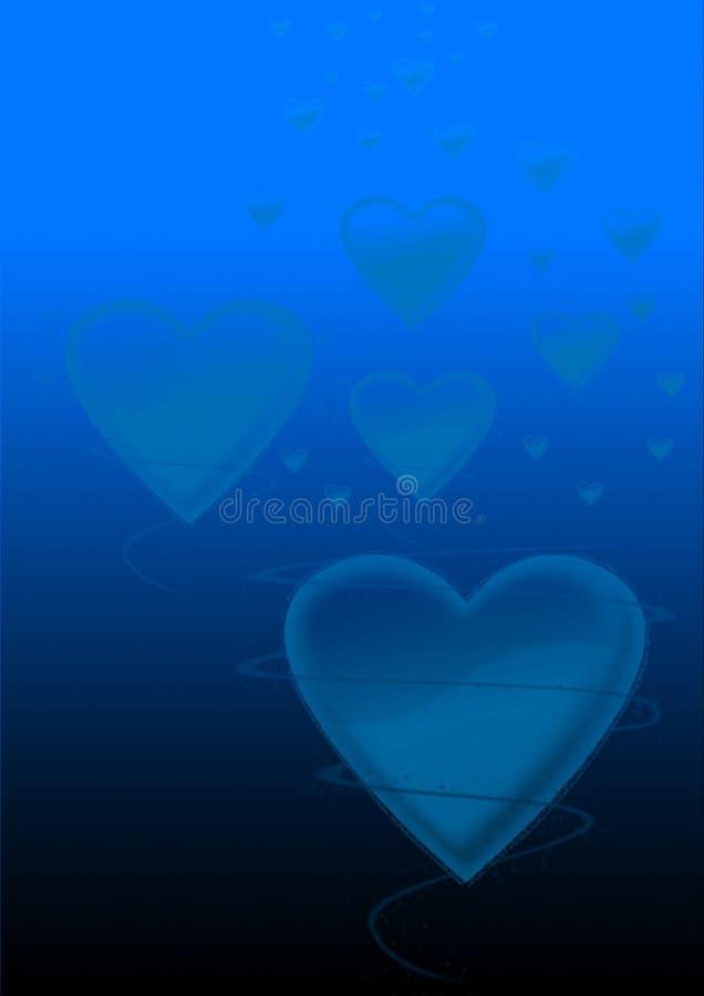 Fond bleu d'amour images stock