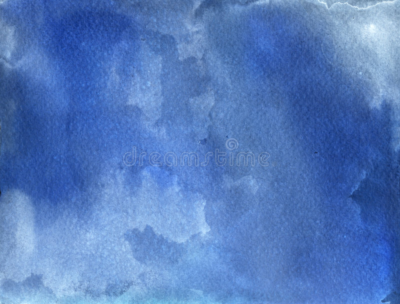 Fond bleu d'aquarelle illustration de vecteur