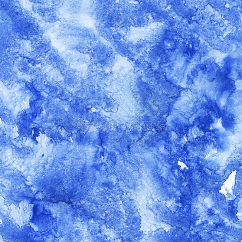 Fond bleu d'aquarelle photos stock