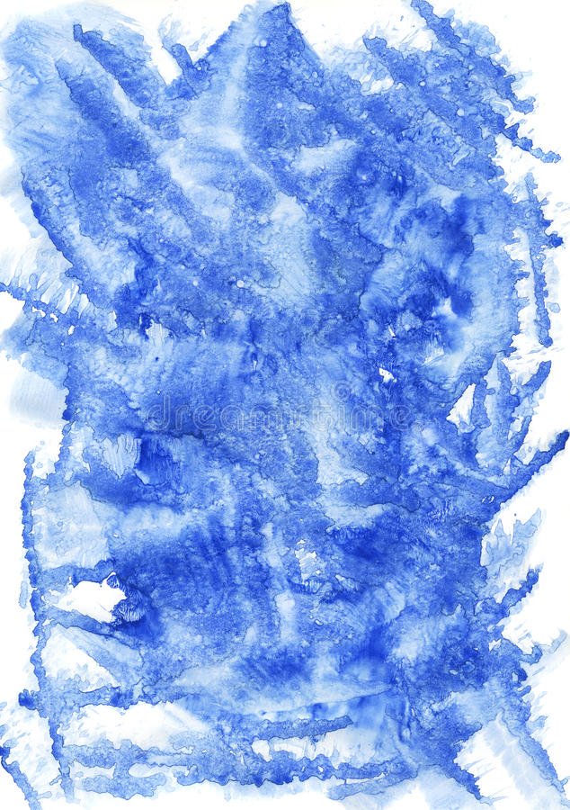Fond bleu d'aquarelle photographie stock