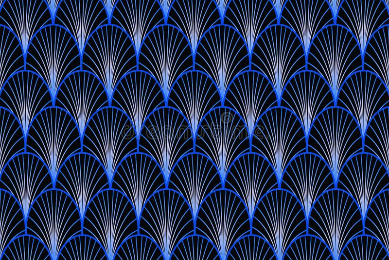 Fond bleu d'art déco illustration de vecteur