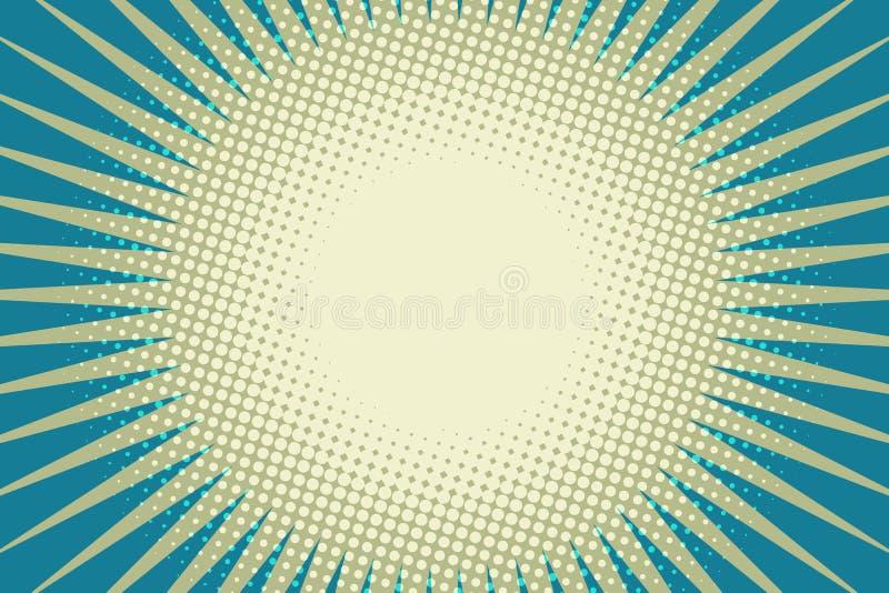 Fond bleu d'art de bruit du soleil illustration libre de droits