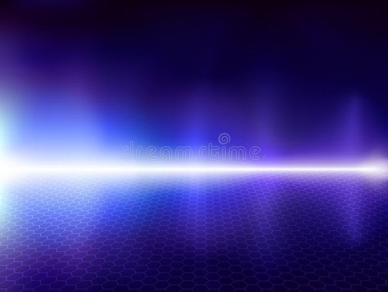 Fond bleu d'ordinateur illustration de vecteur