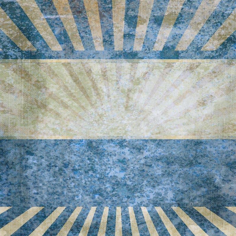 Fond bleu dans le type de cru. illustration de vecteur