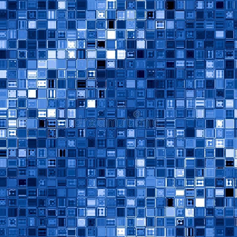 Fond bleu de blocs carrés. illustration libre de droits