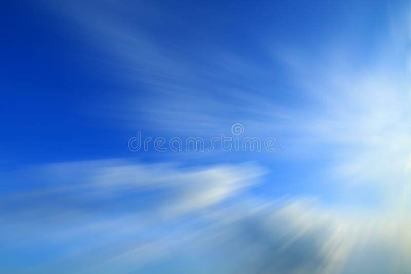 Fond bleu de Blured photographie stock