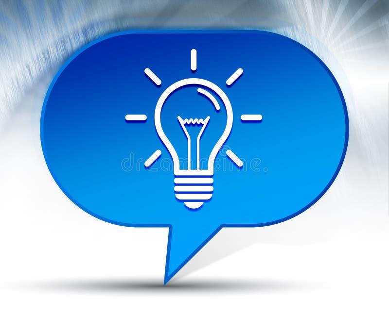 Fond bleu de bulle d'icône d'ampoule illustration de vecteur