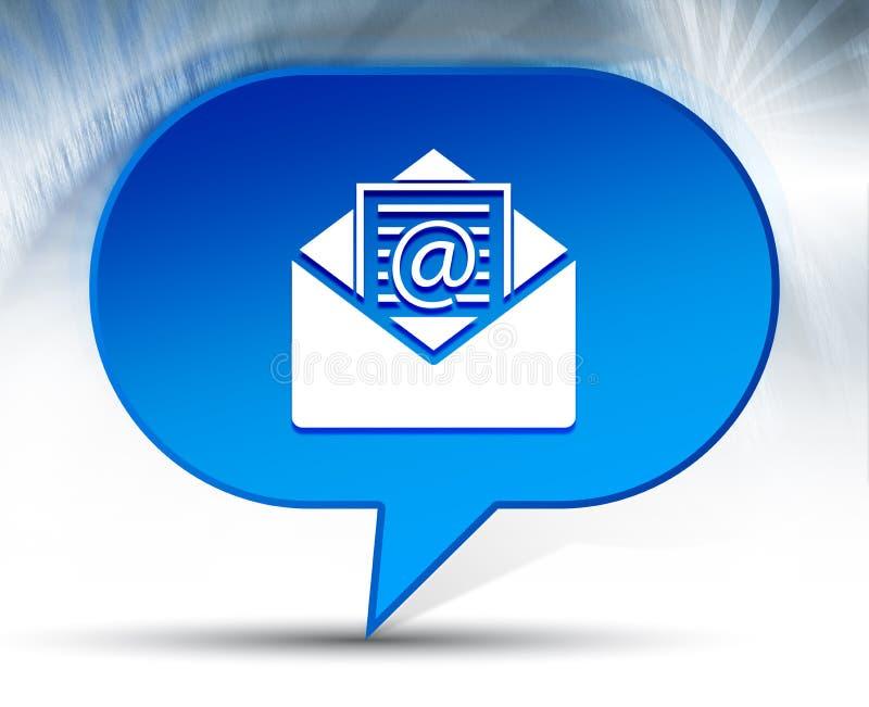 Fond bleu de bulle d'icône d'email de bulletin d'information illustration libre de droits