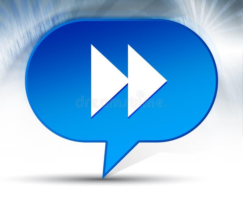 Fond bleu de bulle d'icône en avant de saut images libres de droits