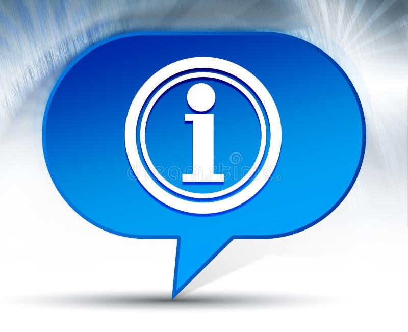Fond bleu de bulle d'icône de l'information illustration de vecteur