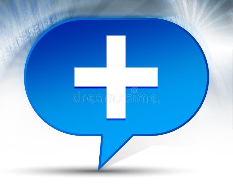 Fond bleu de bulle d'icône plus illustration de vecteur