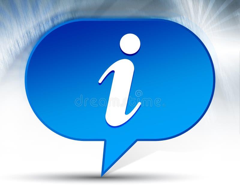Fond bleu de bulle d'ic?ne de l'information illustration libre de droits