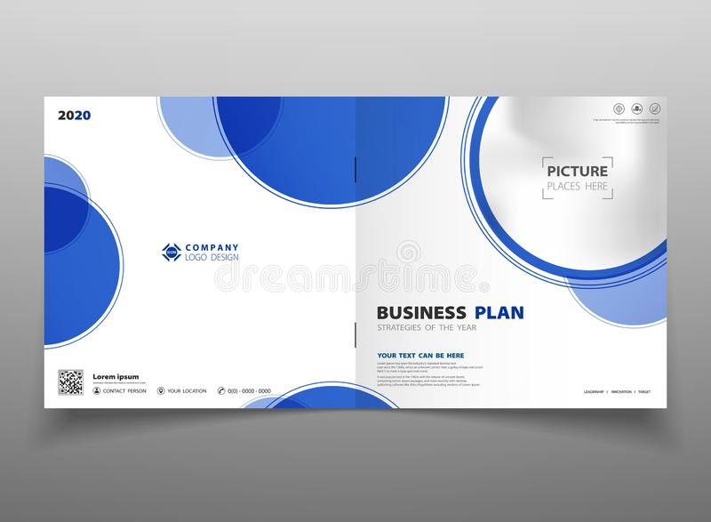 Fond bleu de calibre d'insecte de brochure de cercle de gradient abstrait de technologie Vous pouvez employer pour la présentatio illustration libre de droits