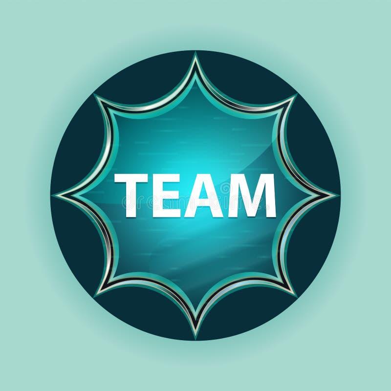 Fond bleu de bleu de ciel de bouton de rayon de soleil vitreux magique d'équipe photo libre de droits