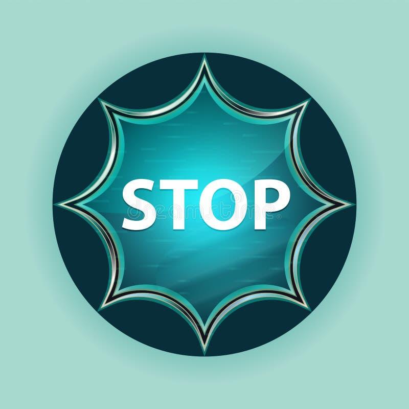 Fond bleu de bleu de ciel de bouton de rayon de soleil vitreux magique d'arrêt photos libres de droits