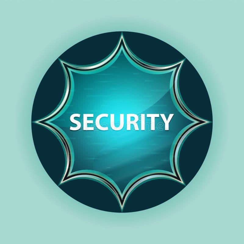 Fond bleu de bleu de ciel de bouton de rayon de soleil vitreux magique de sécurité illustration libre de droits