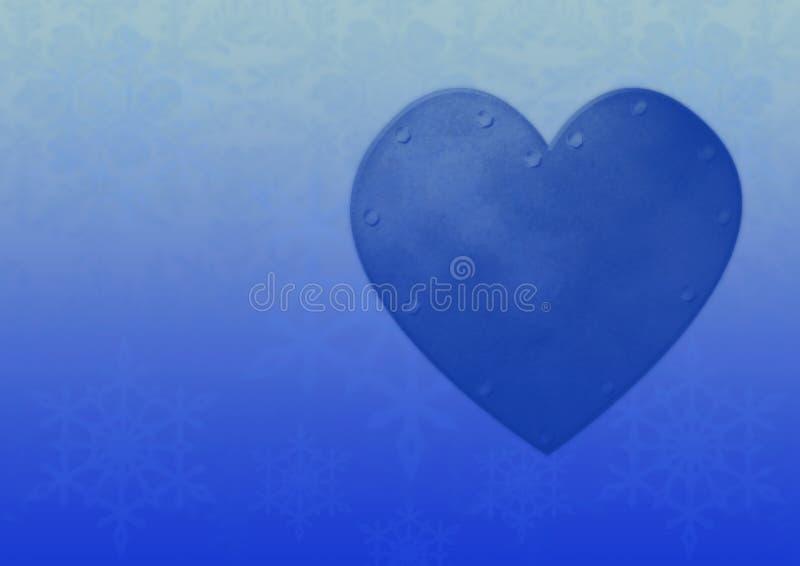 Fond bleu de coeur photo stock