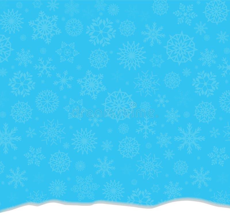 Fond bleu de fête d'hiver élégant avec la chute de flocons de neige illustration de vecteur