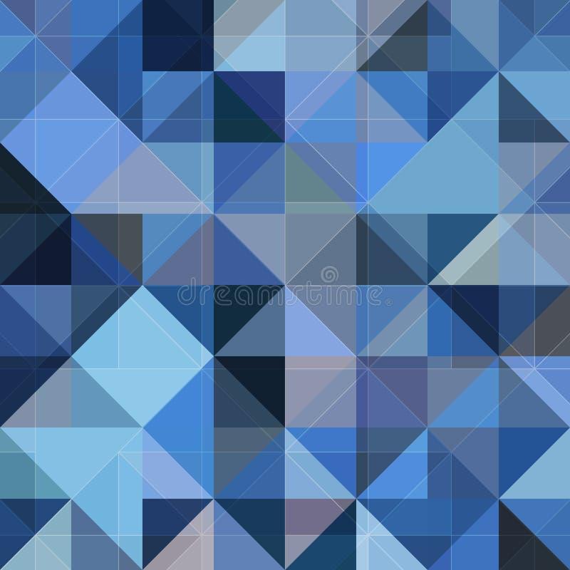 Fond bleu de grunge de vecteur de la géométrie abstraite illustration stock