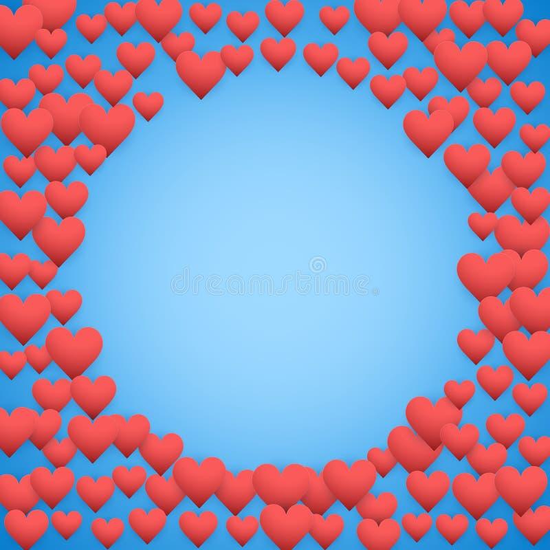 Fond bleu de jour de valentines illustration libre de droits