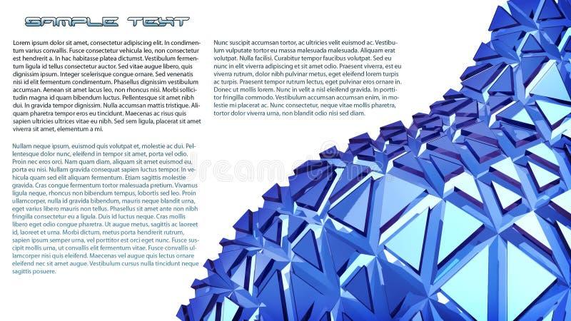 Fond bleu de l'abstraction 3d illustration stock