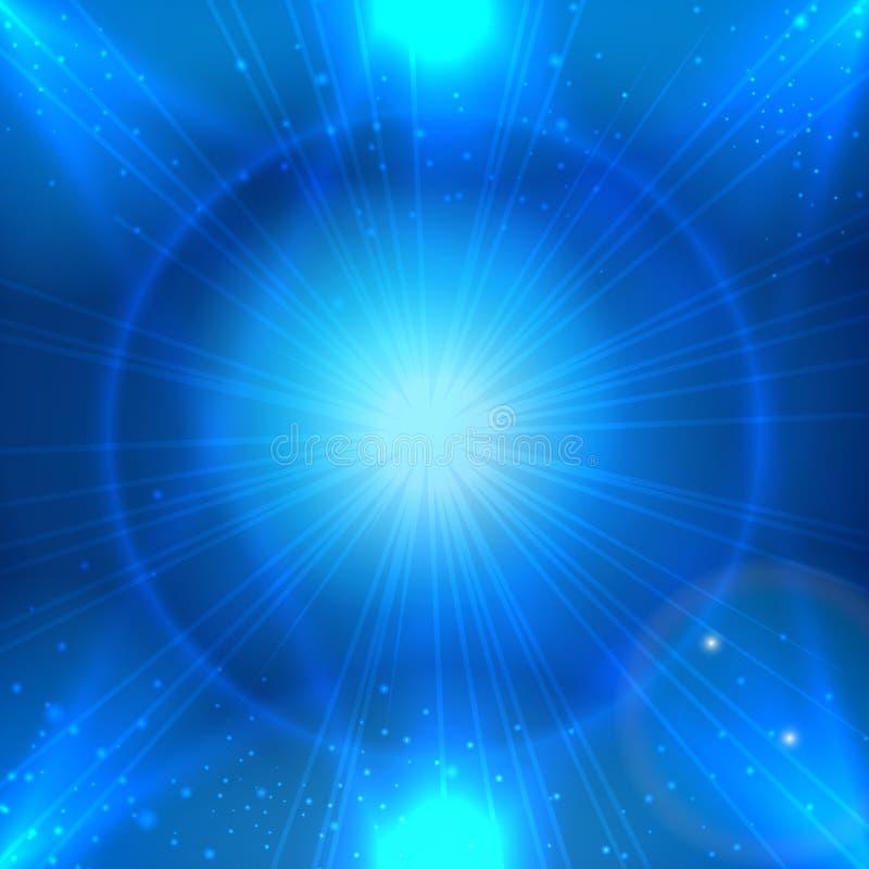 Fond bleu de l'espace d'Abstarct avec l'étoile légère pour le placement fait de la publicité de produit illustration libre de droits