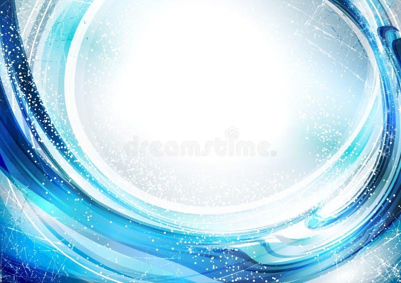 Fond bleu de l'hiver illustration stock