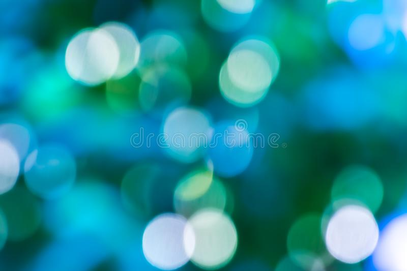Fond bleu de lumi?re d'abr?g? sur bokeh photos libres de droits
