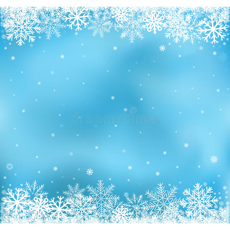 Fond bleu de maille de neige illustration stock