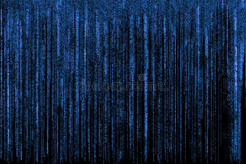 Fond bleu de matrice illustration de vecteur