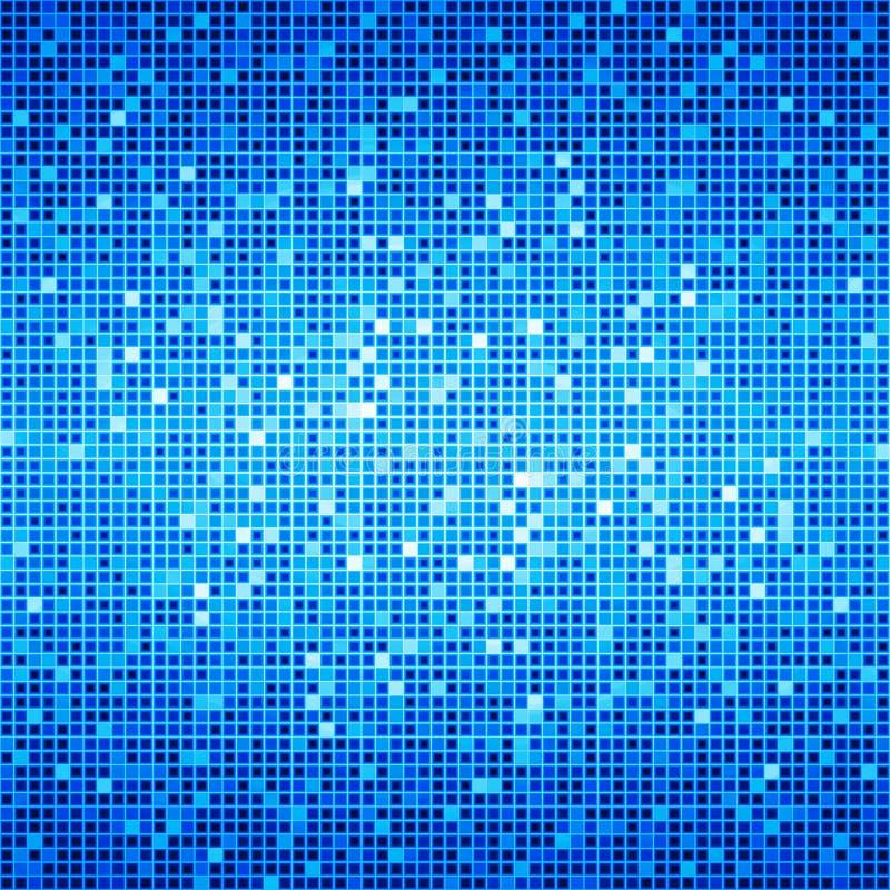 Fond bleu de matrice de disco d'océan illustration stock