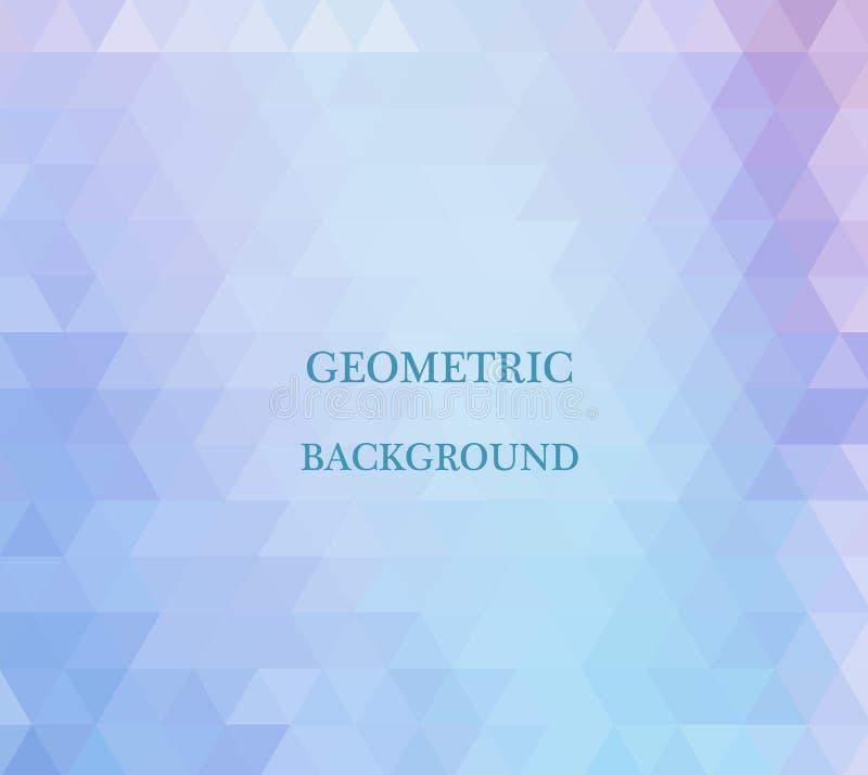 Fond bleu de mosaïque de grille, calibres créatifs de conception illustration de vecteur