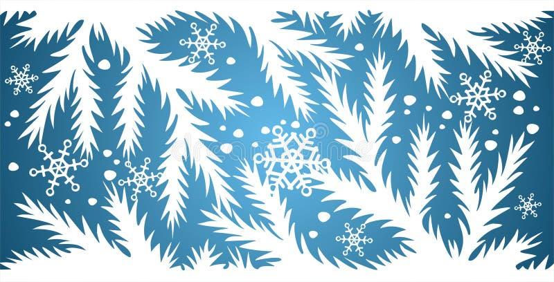 Fond Bleu De Neige Image stock