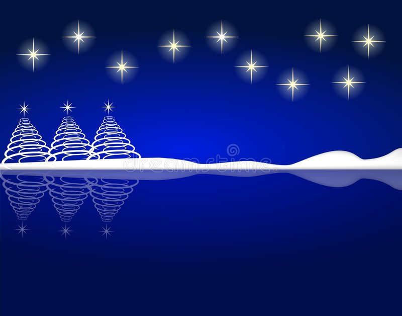 Fond bleu de Noël illustration libre de droits