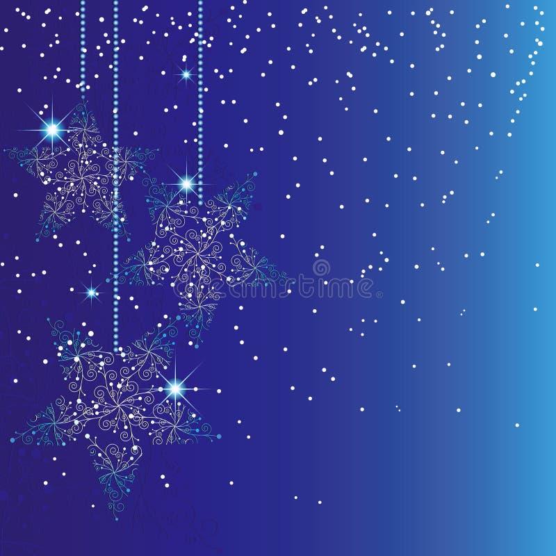 Fond bleu de Noël d'étincelle abstraite illustration de vecteur