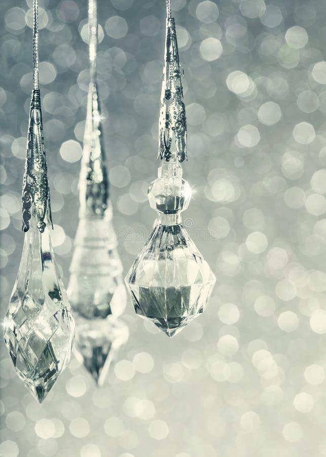 Fond bleu de Noël de scintillement photographie stock libre de droits