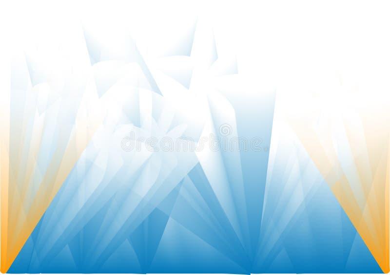 Fond bleu de pétillement illustration stock
