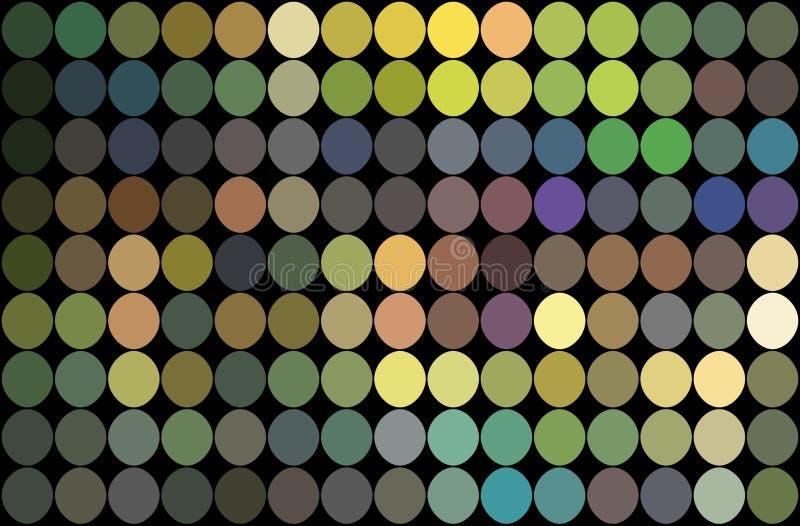 Fond bleu de points de lilas jaune de vert de mosaïque Illustration olographe de miroitement illustration de vecteur