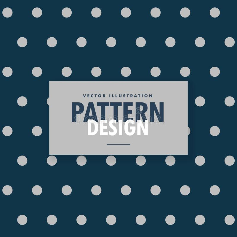 Fond bleu de points de polka avec les cercles gris illustration libre de droits