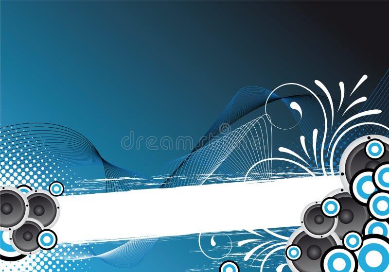 Fond bleu de réception illustration de vecteur