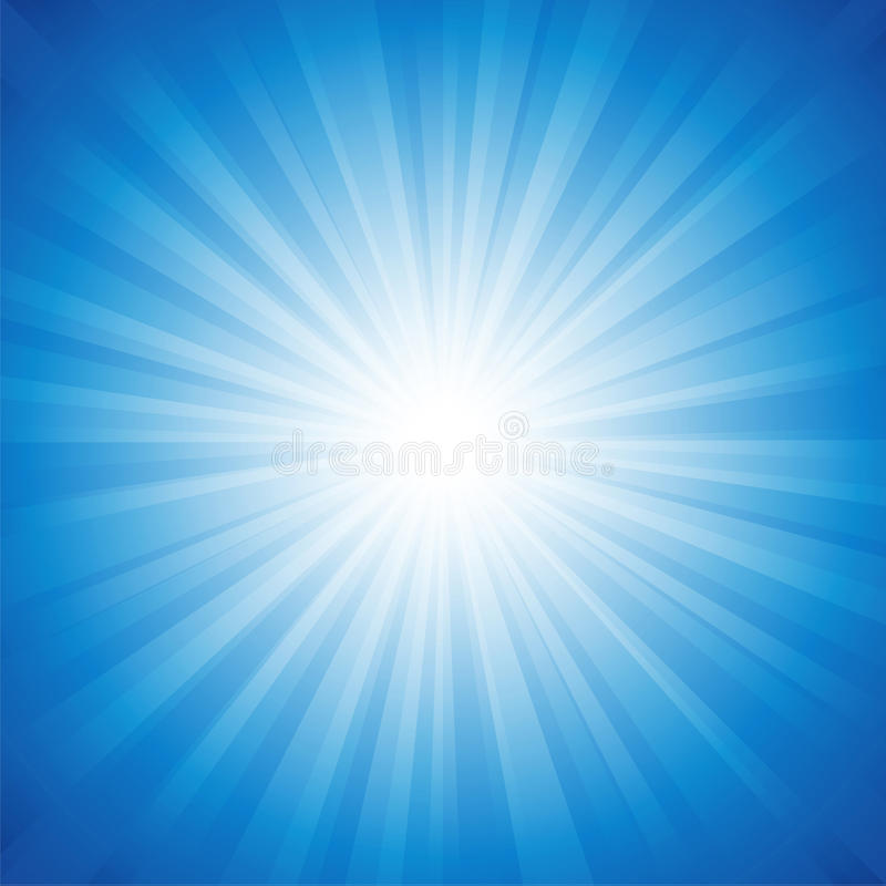 Fond bleu de rayonnement photo stock