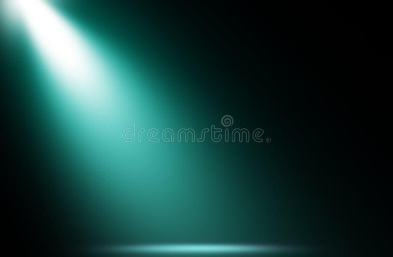 Fond bleu de studio de conception d'étape de projecteur image stock