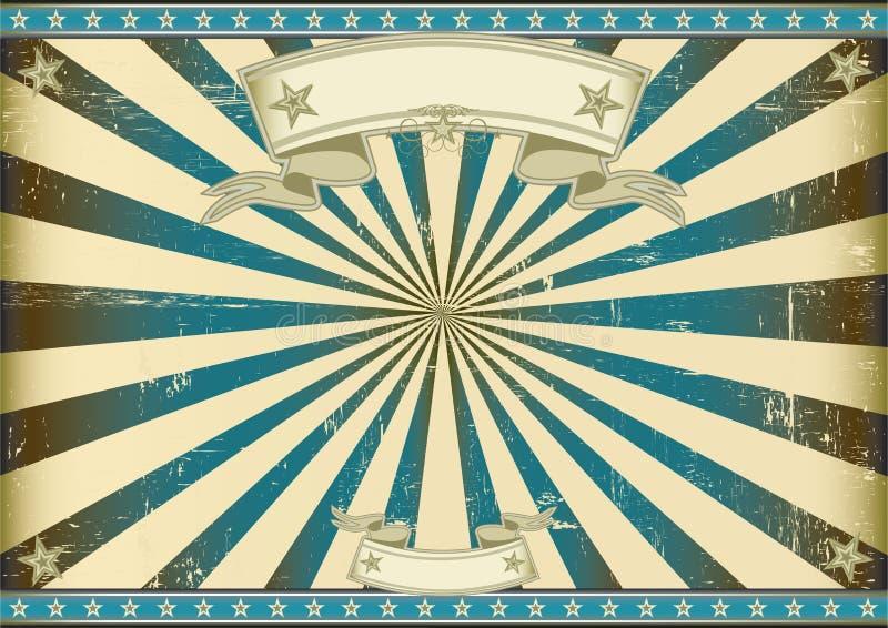Fond bleu de Sunbeam rétro illustration libre de droits